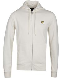 Lyle & Scott - Seashell White Zip Through Hoodie - Lyst