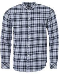 Samsøe & Samsøe Liam Check Shirt - Blue