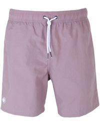 Pretty Green - Pink Logo Swim Shorts - Lyst