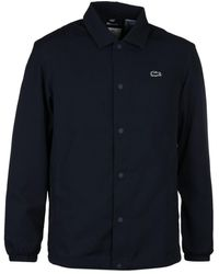 Lacoste L!ive Navy Button-through Lightweight Blouson Jacket - Blue