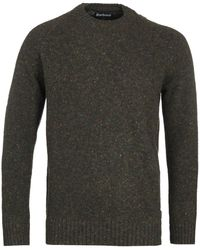 Barbour Netherton Forest Green Knitted Jumper
