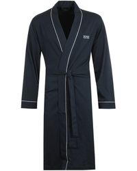 BOSS by Hugo Boss Bodywear Navy Kimono Dressing Gown - Blue