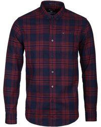 Weekend Offender - Navy & Red O'connel Shirt - Lyst