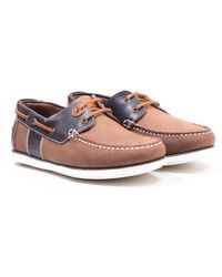 Barbour Capstan Leather Boat Shoes - Brown