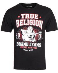 True Religion Buddha Print Black T-shirt