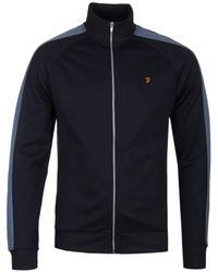 Farah - Irk Navy Tricot Track Jacket - Lyst