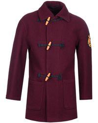 Vivienne Westwood Burgundy Wool Duffle Coat - Purple