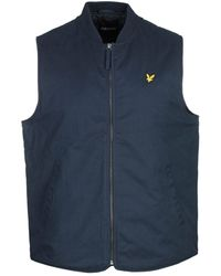 Lyle & Scott - Wadded Gilet - Navy - Lyst