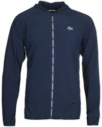 Lacoste Blouson Navy Hooded Jacket - Blue