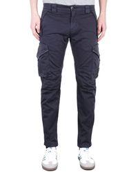 C P Company Ergonomic Fit Navy Cargo Trousers - Blue