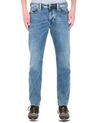 DIESEL Larkee Beex Acid Blue Tapered Jeans