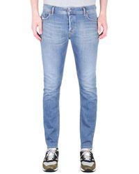 DIESEL Sleenker Pantaloni Skinny Fit Light Blue Denim Jeans