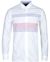 Tommy Hilfiger Ithaca Slim Fit Flag Shirt - White