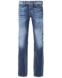 DIESEL Safado Straight Fit Jeans - Faded Mid Blue