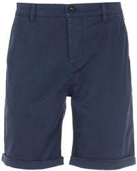 Pretty Green Slim Fit Navy Preston Shorts - Blue
