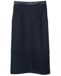 Tibi Organza Stripe Layered Pencil Skirt - Lyst