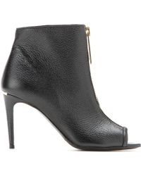 Burberry London Haverstock Open-Toe Leather Boots - Lyst