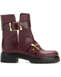 Alexander McQueen Leather Boots - Purple