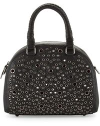 Christian Louboutin Panettone Small Eyelet Satchel Bag Black - Lyst