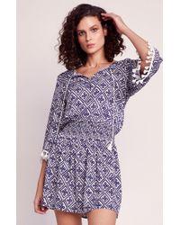 Jack BB Dakota Santorini Peasant Dress - Purple