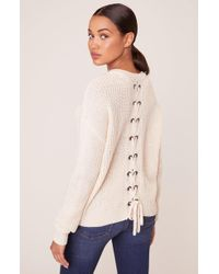 Jack BB Dakota Tie Me Later Sweater With Back Lace Up - Multicolor