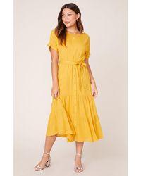 BB Dakota Sundown Midi Dress - Yellow