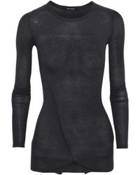 Isabel Marant Gray Cashmere Sweater - Lyst