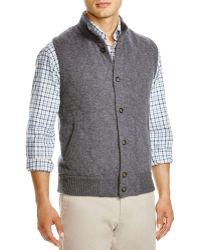 Bloomingdale's Cashmere Knit Vest - Grey