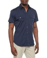 Theory Feynold S Short-Sleeve Shirt - Lyst