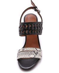 Thakoon Addition - Cloe Block Heel Sandals - Black/natural - Lyst