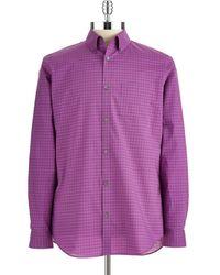 Calvin Klein Checkered Sport Shirt - Lyst