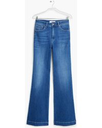 Mango Flared Martina Jeans blue - Lyst