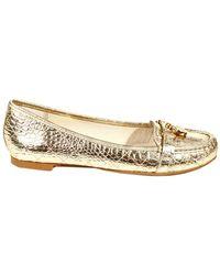 Michael Kors Gold Shoes - Lyst