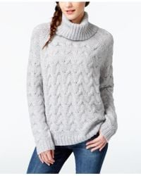 G.H.BASS - Cable-knit Turtleneck Sweater - Lyst