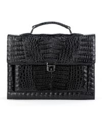 Anne Sisteron - Crocodile Briefcase - Lyst