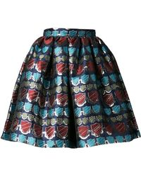House Of Holland Metallic Jacquard Skirt - Lyst