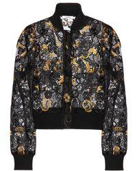Ganni - Evans Lace Cropped Jacket - Lyst