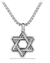 David Yurman Pavã Chevron Reversible Star Of David Necklace - Lyst