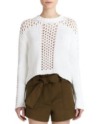10 Crosby Derek Lam Open-Knit Sweater - Lyst