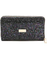 Deux Lux - Starlight Zip Wallet - Black - Lyst