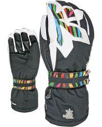 Level Bliss Oasis Pk-rainbow Ski Gloves - Black