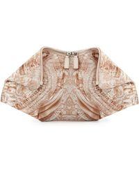 Alexander McQueen De-manta Lace-print Clutch Bag - Lyst