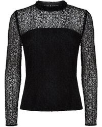 Reiss Turenne Beaded Long Sleeve Top - Lyst
