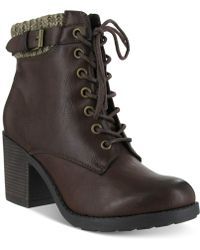 Mia Brown George Booties - Lyst