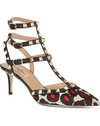 Valentino So Noir 65 Court Shoes Nude - Lyst