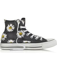 Converse Chuck Taylor All Star Black And Citrus Daisy Printed Canvas High Top Sneaker - Lyst