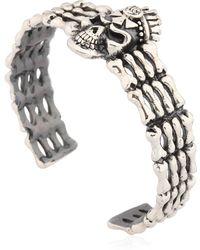 John Richmond - Skull & Bones Cuff Bracelet - Lyst