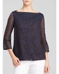 Tory Burch Lindsey Floral Stripe Top - Lyst