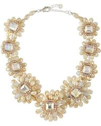 Nakamol Crystal Flower Necklace In Cream Mix - Lyst