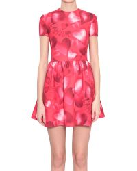 Valentino Wool Crepe Camuamour Dress - Lyst
